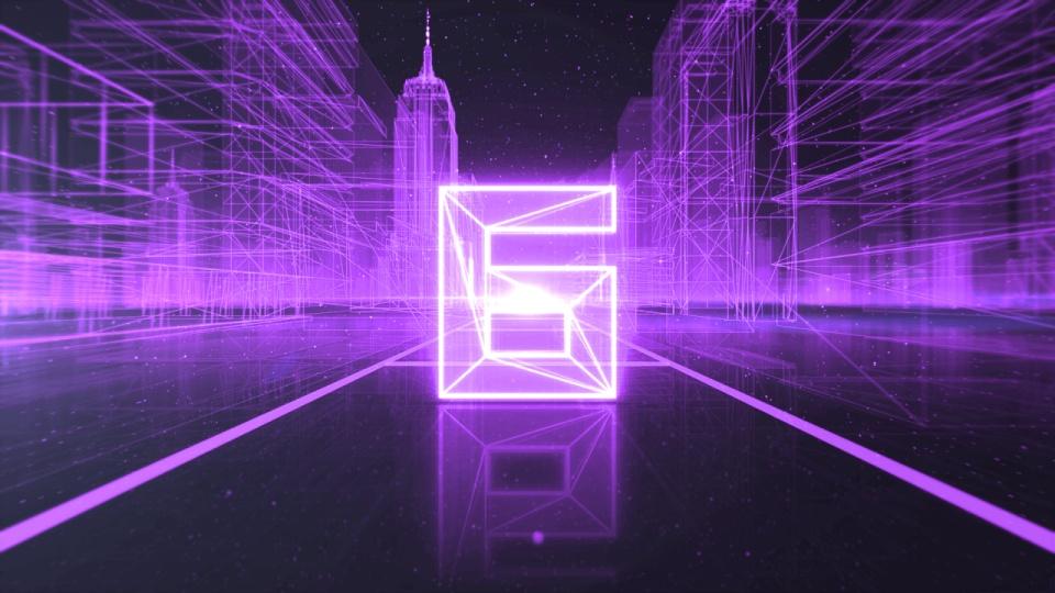 紫色数码科技倒计时