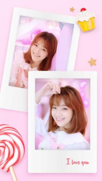粉色系少女心拍立得海报