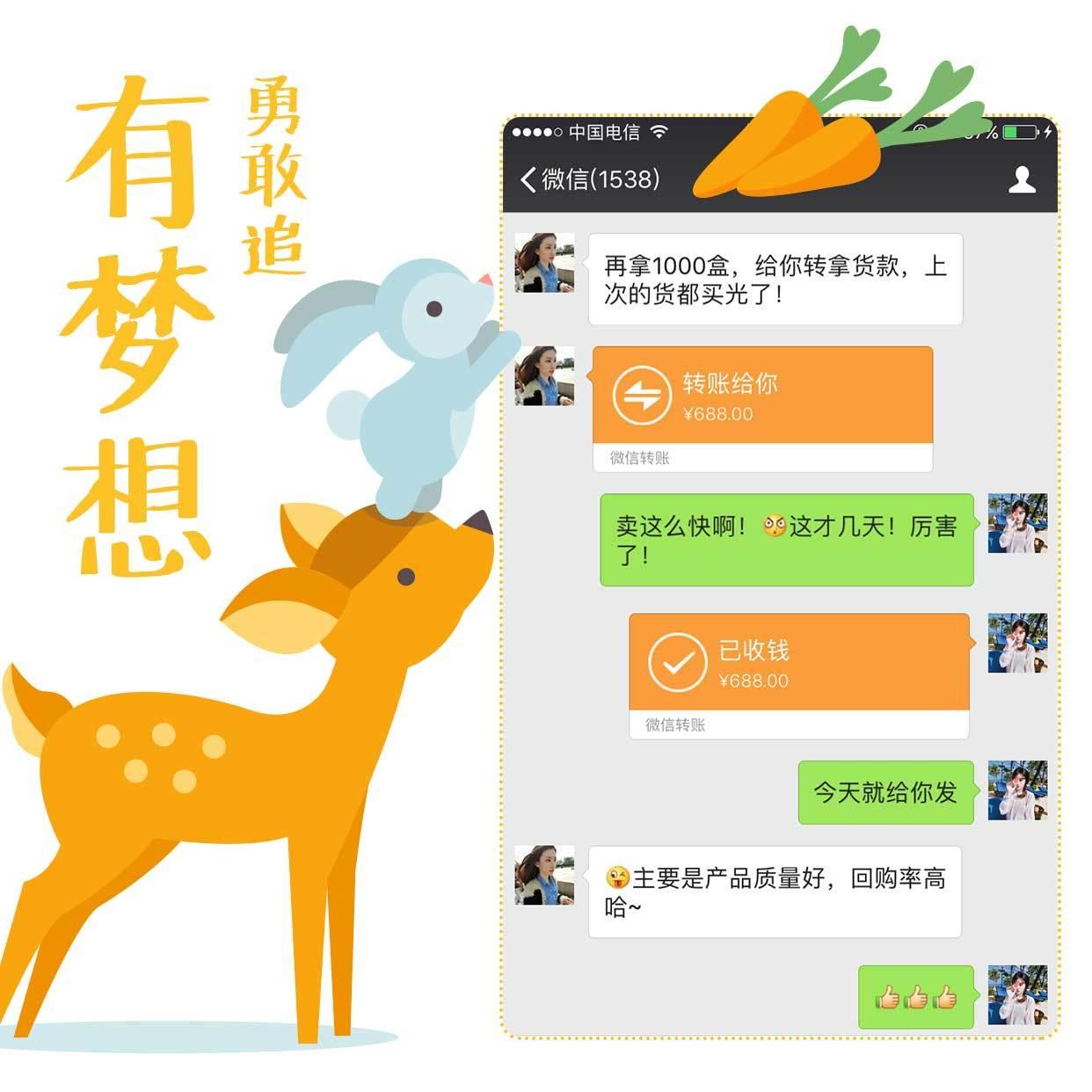 长颈鹿花式晒单方形海报