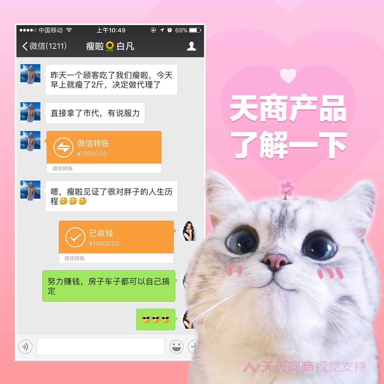 萌宠大眼猫花式晒单方形海报