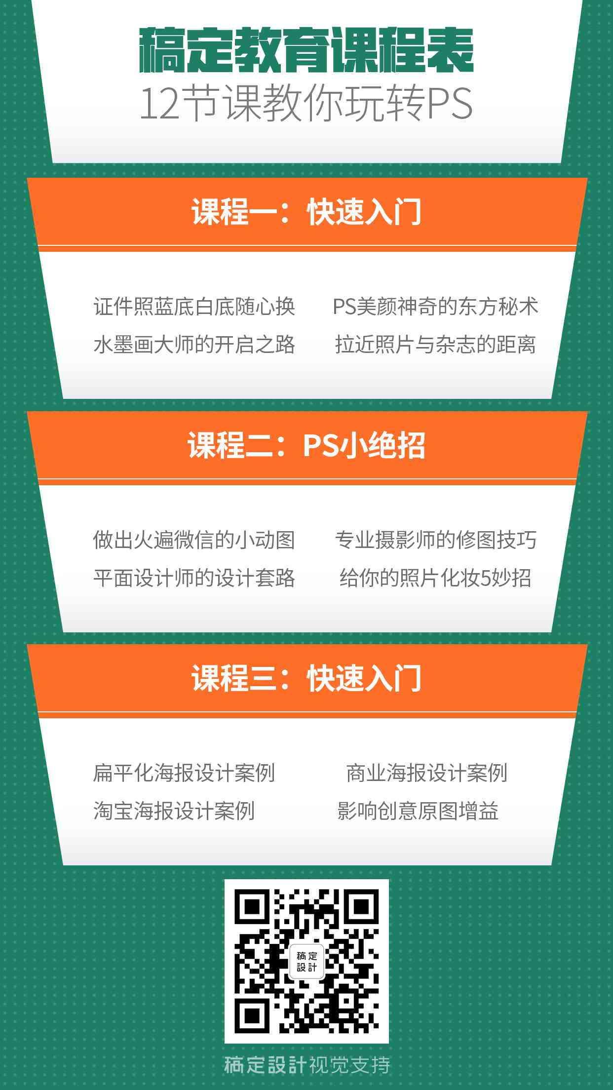 PS教育课程手机海报