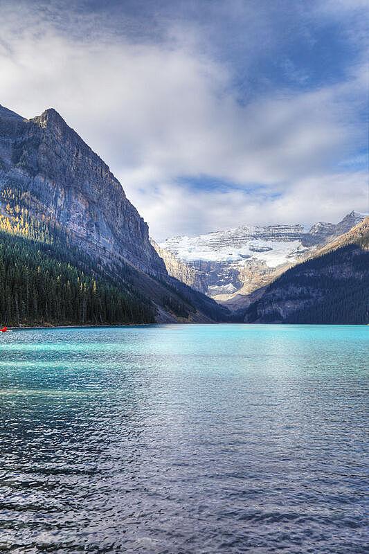 垂直画幅,班夫,露易斯湖,加拿大,水,天空,美,阿尔伯塔省,无人,户外