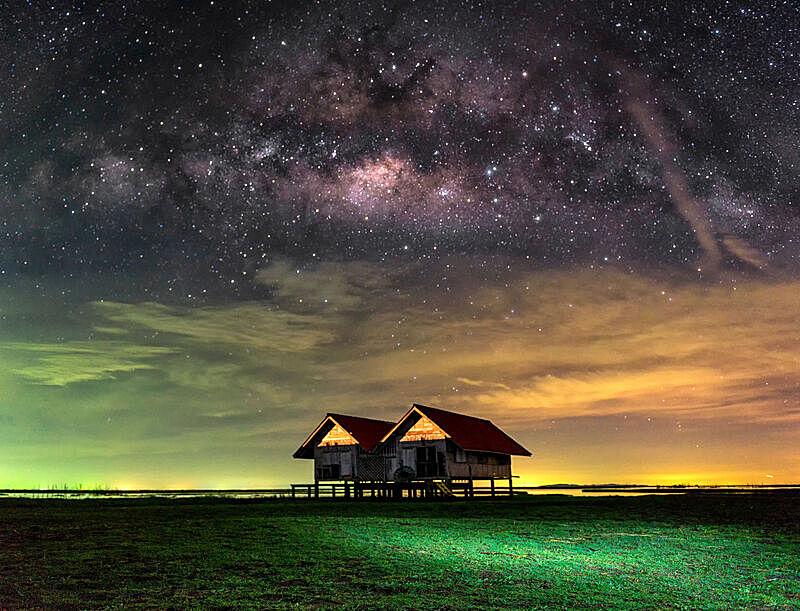 银河系,天空,夜晚,运动模糊,星星,,星系,背景,天蝎座,射手座