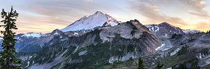 贝克尔山,全景,北喀斯开山脉,华盛顿州,mt baker-snoqualmie national forest,山脉,山,山顶,卡斯基德山脉,天空
