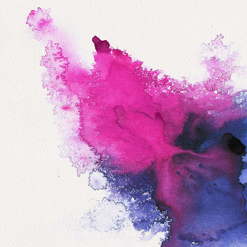 玷污的,抽象,水彩画,点状,紫色,彩色图片,紫罗兰,色彩鲜艳,水彩颜料