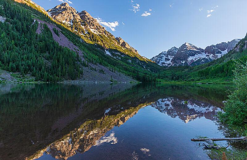 风景,玛尔露恩贝尔峰,夏天,科罗拉多州,自然,图像,阿斯彭,美国,自然美,无人