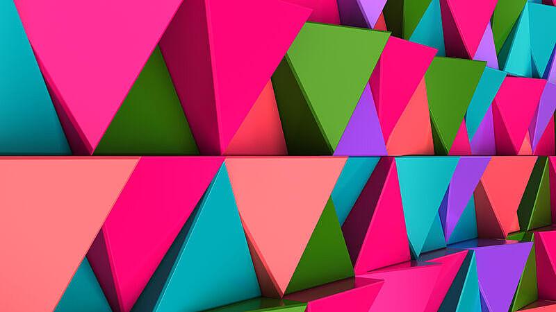 式样,绿色,蓝色,三角形,红色,紫色,棱镜,未来,水平画幅,无人
