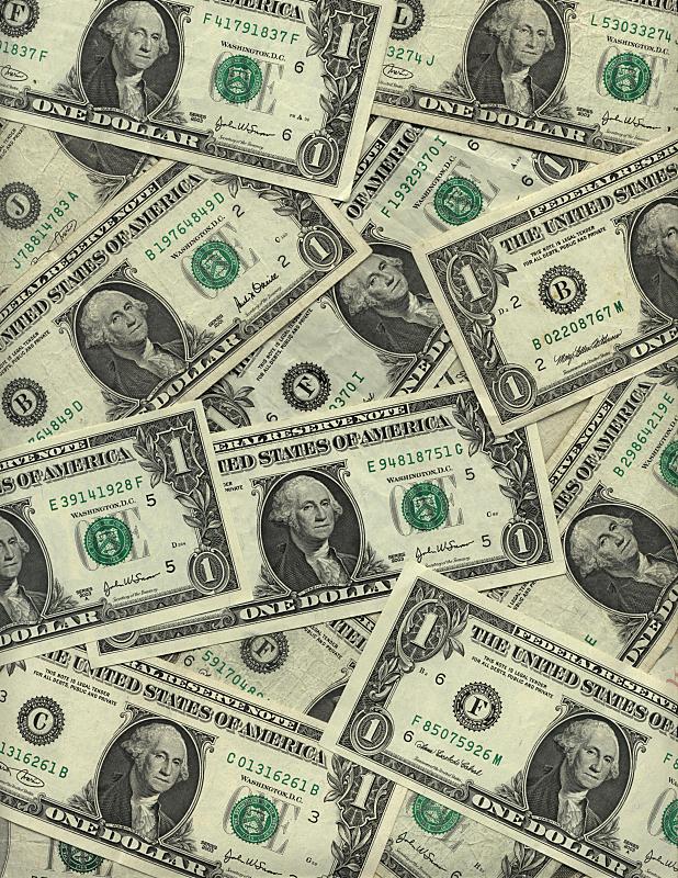 美国,帐单,背景,美国一美元钞票,垂直画幅,储蓄,美元符号,彩色图片,数字1,债务