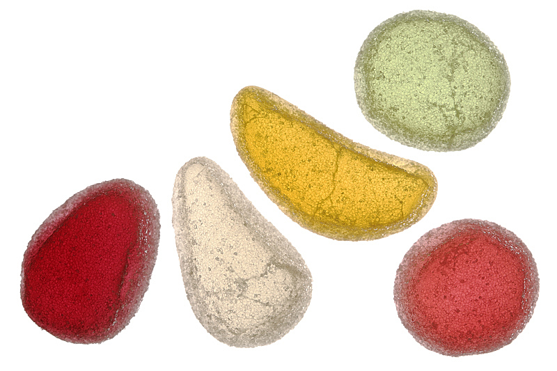 软糖,水果,砂糖,果味软糖,果冻,白色背景,背景分离,多样,饮食,食品