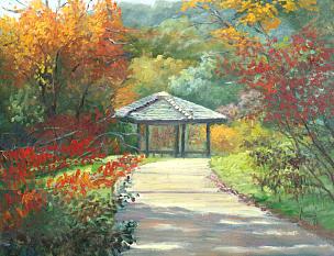 凉棚,明尼苏达,风景,秋天,时间,插画,季节,摄影
