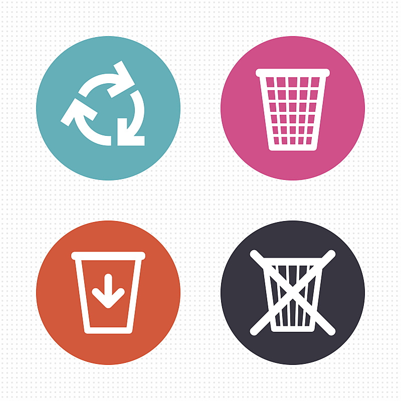 符号,回收桶,垃圾筒,循环利用,自然,代币,罐子,环境,图像,垃圾