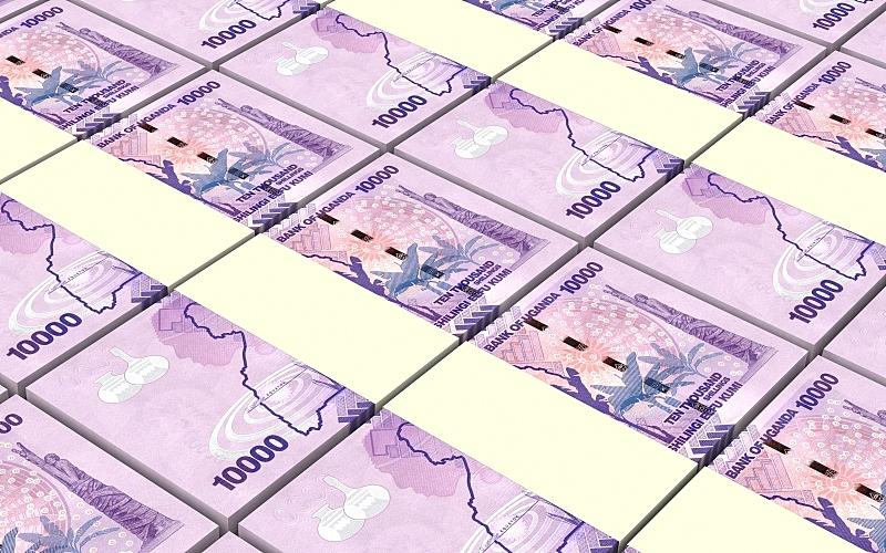 乌干达,帐单,1万日元,水平画幅,形状,无人,绘画插图,金融,非洲,金融和经济