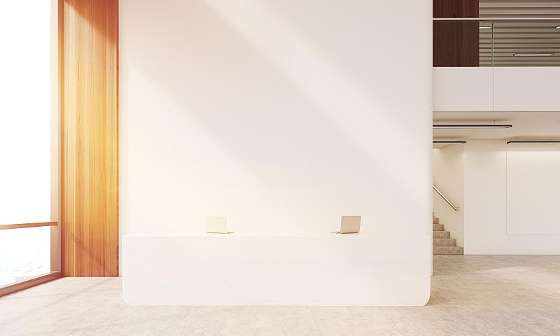 走廊,稳定,空的桌子,门厅,前台,大厅,办公室,水平画幅,银行,无人