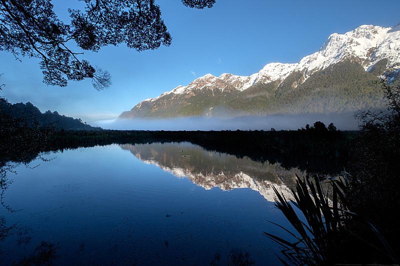 地形,自然,风景,新西兰,南地大区,蒂阿瑙,米佛峡湾,镜湖,主干路,户外