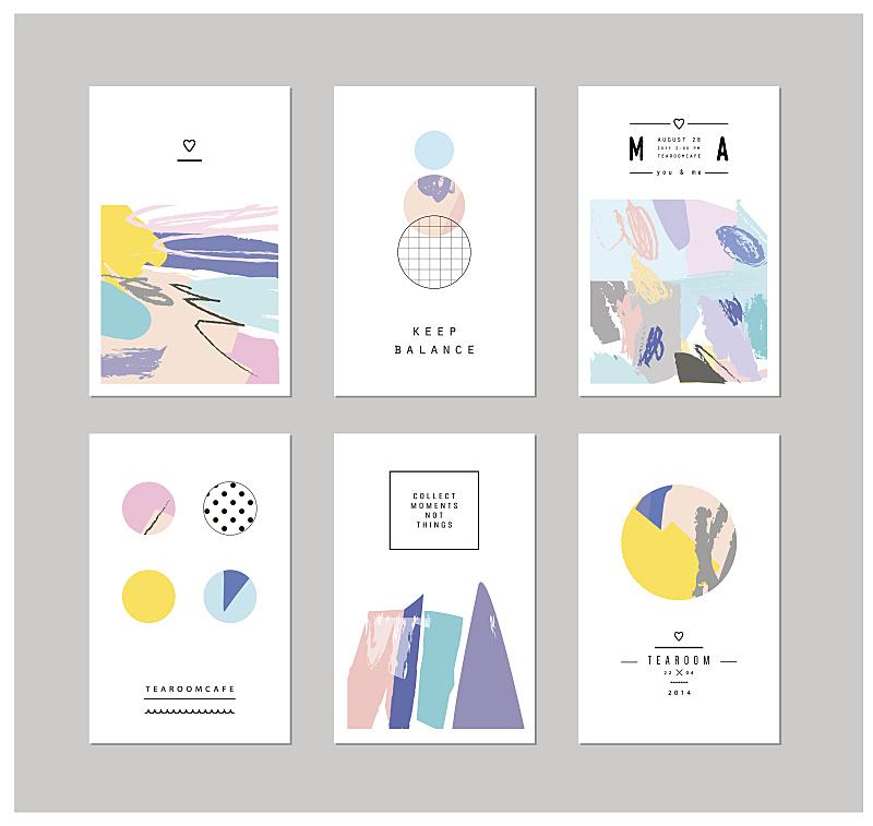 贺卡,几何形状,创造力,轮廓,形状,笔触,彩色蜡笔,蜡笔画,水彩颜料