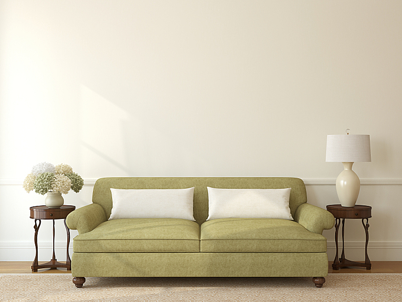 起居室,室内,沙发,正面视角,座位,水平画幅,形状,无人,地毯,灯