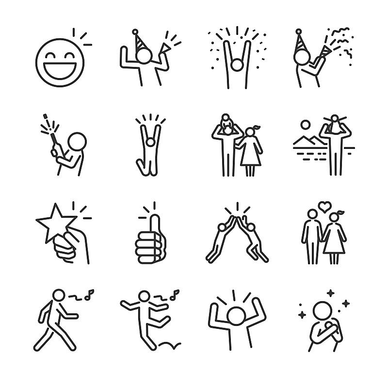 乐趣,快乐,计算机图标,图标集,接力赛,大于号,成一排,庆祝,聚会