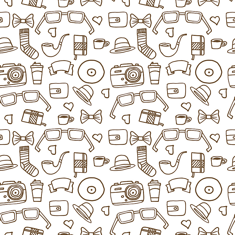 式样,潮人,白色,橙色,褐色,绘画插图,古典式,计算机制图,计算机图形学,卡通