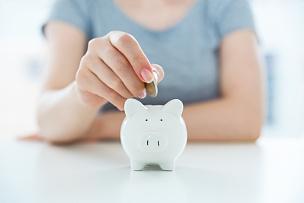 储蓄,小猪扑满,存钱罐,金融和经济,水平画幅,部分,商业金融和工业,成年的