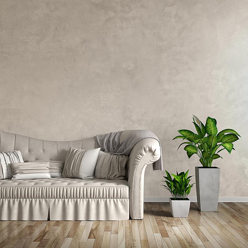 沙发,起居室,正面视角,留白,形状,无人,家庭生活,家具,明亮,现代