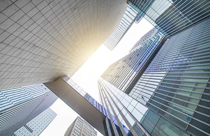 商务,建筑外部,正下方视角,大都会建筑,达尼丁,低的,夏令时,角度,曼哈顿,城市扩张