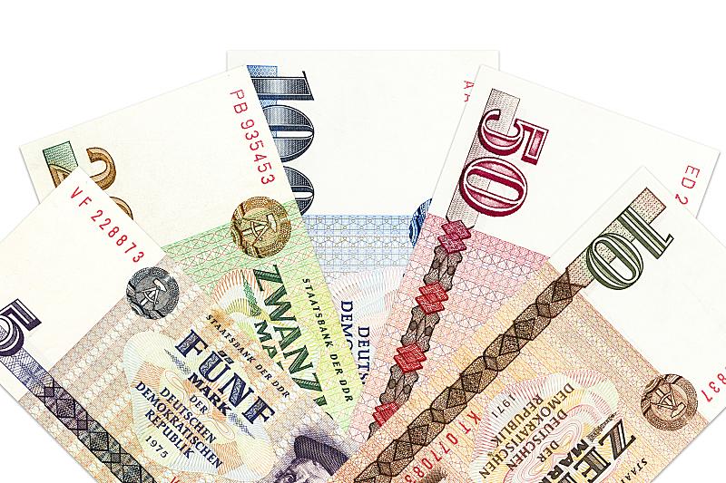 德国德意志马克,疤,堆,储蓄,水平画幅,税,特写,东德,过时的,商业金融和工业