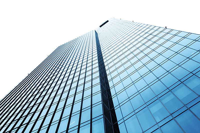 天空,现代,看,办公楼外观,商务,正下方视角,新的,水平画幅,建筑,蓝色