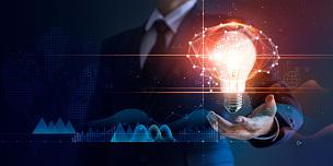 概念,网络空间,未来,技术,背景,商务,拿着,电灯泡,计算机网络,联系
