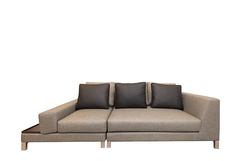 家具,沙发,白色背景,分离着色,床头柜,水平画幅,现代,一个物体,扶手椅,床