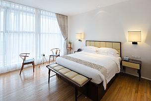 现代,卧室,室内,水平画幅,墙,无人,家庭生活,地毯,灯,家具