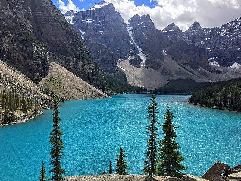 视角,加拿大,湖,个性,阿尔伯塔省,贾斯珀国家公园,彩色图片,梦莲湖,平衡折角灯,好奇心