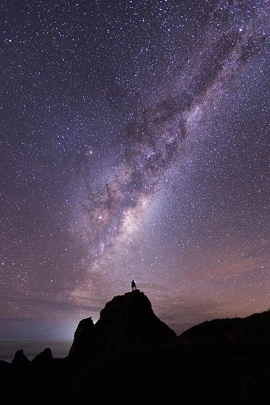 天文学,垂直画幅,天空,新西兰,northland region,星星,山,夜晚,无人,银河系