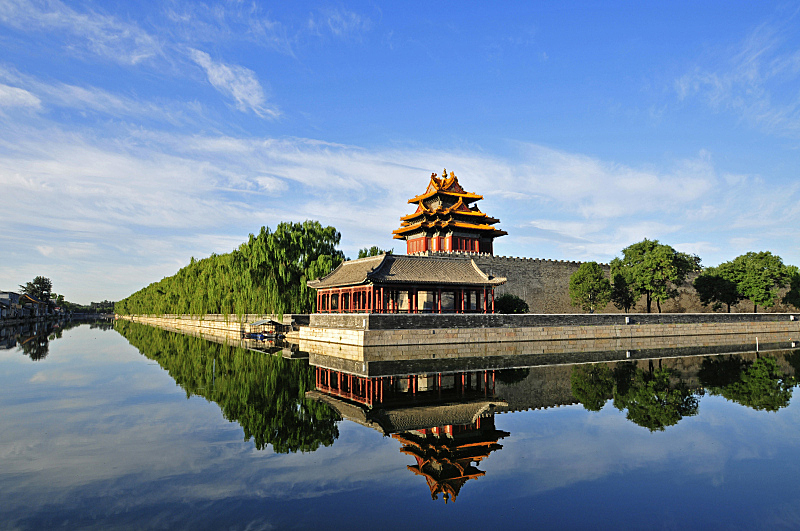 北京,了望塔,颐和园,宫殿,水,艺术,水平画幅,无人,亚洲,远古的