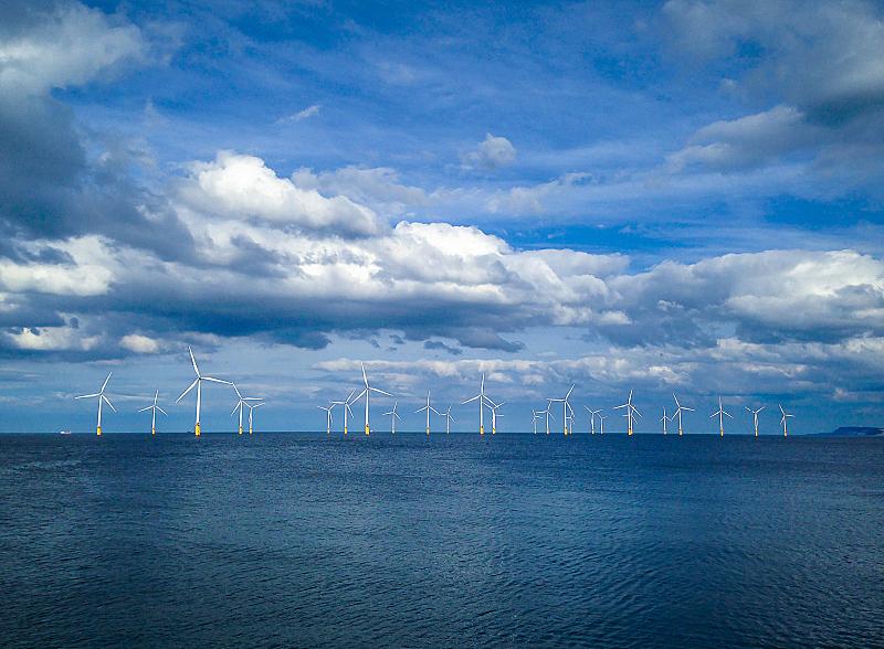 风轮机,英国,英格兰,建筑工地,风力发电站,海岸线,风力,风车,风,海洋