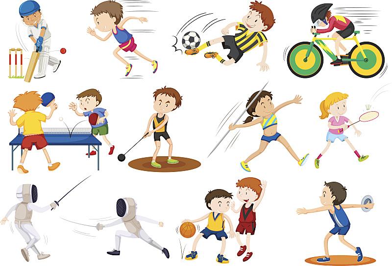 运动,人,乒乓球,羽毛球,稳定,一个物体,推铅球,儿童,背景