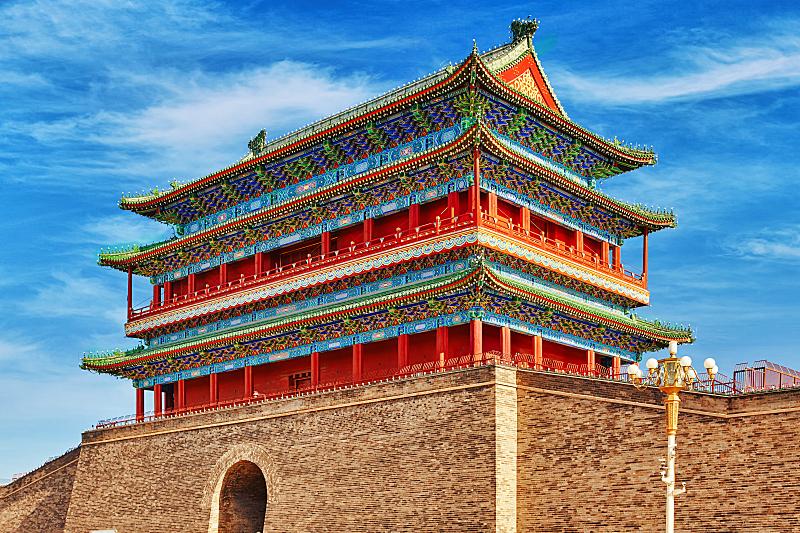 大门,前门,自然美,美国的北京烤鸭,故宫,亭台楼阁,华丽的,北京,广场,门厅