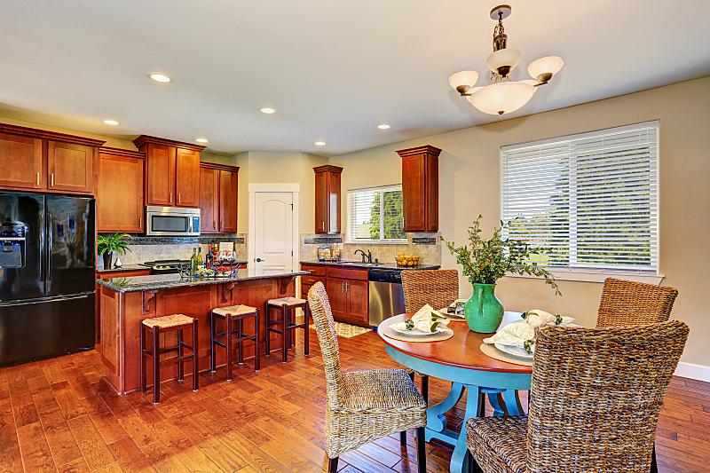住宅房间,厨房,饭厅,华贵,窗户,水平画幅,吧椅,建筑,无人,豪宅