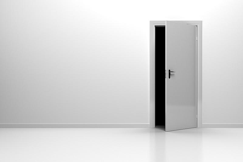 住宅房间,白色,水平画幅,无人,白色背景,风险,门,住宅内部,剪贴路径,危险