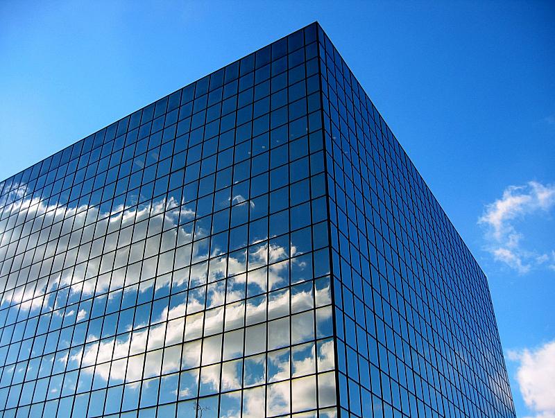天空,二进制码,建筑业,水平画幅,建筑,无人,蓝色,云,办公楼外观,公司企业