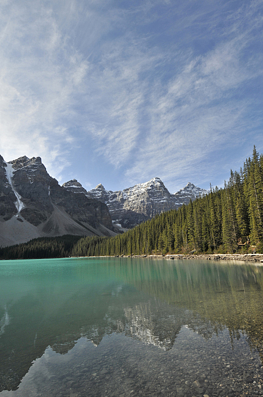 十峰谷,梦莲湖,加拿大,加拿大落基山脉,云,松树,户外,山脉,自然,白昼