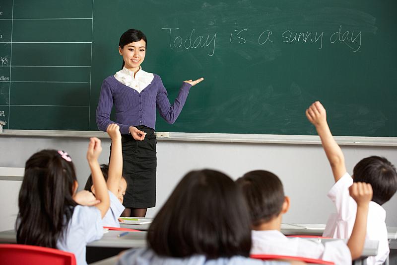 教师,中国,教室,英格兰,小学,中国人,亚洲人,亚洲,学生,女人