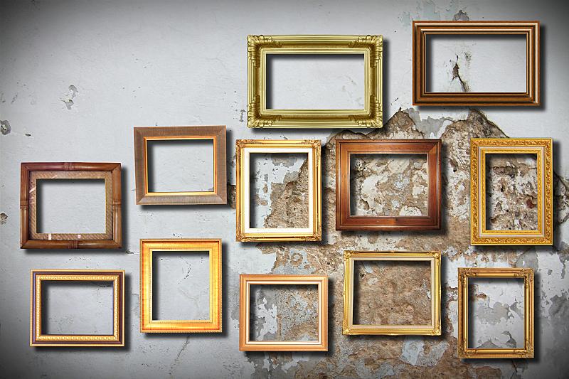 边框,黄金,美,留白,褐色,艺术,水平画幅,无人,图像,画廊