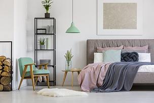 家具,卧室,女性特质,灵感,艺术,水平画幅,银色,无人,灯,金属