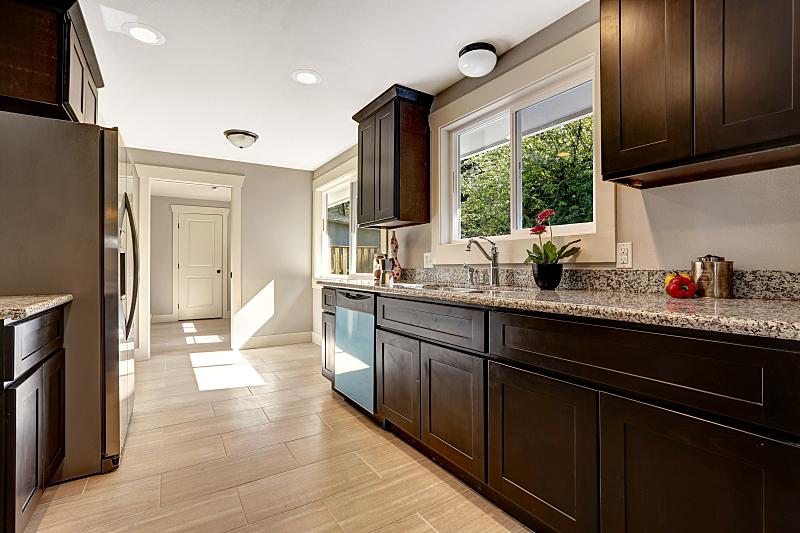 厨房,极简构图,窗户,住宅房间,褐色,水平画幅,建筑,无人,豪宅,天花板