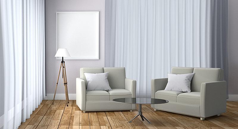 斯堪的纳维亚半岛,沙发,窗户,背景,建筑结构,极简构图,白色,高雅,灯,室内