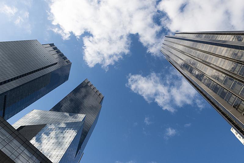 纽约,云,曼哈顿,纽约州,美国,低视角,少量物体,在下面,科技,云景