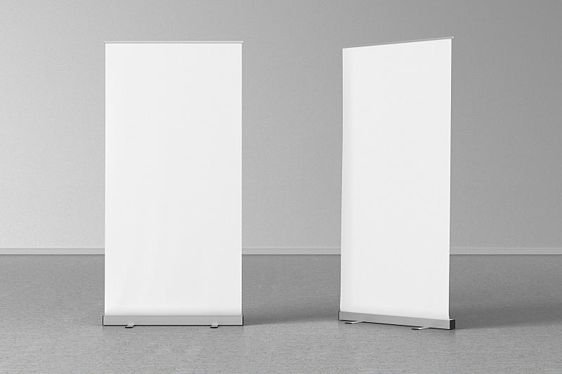 空白的,灰色,易拉宝,室内地面,留白,零售展示,水平画幅,商店,俄罗斯,市场营销