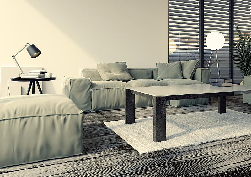 起居室,极简构图,室内设计师,低饱和度,复式楼,曝光过度,白色背景,高雅,百叶帘,灯