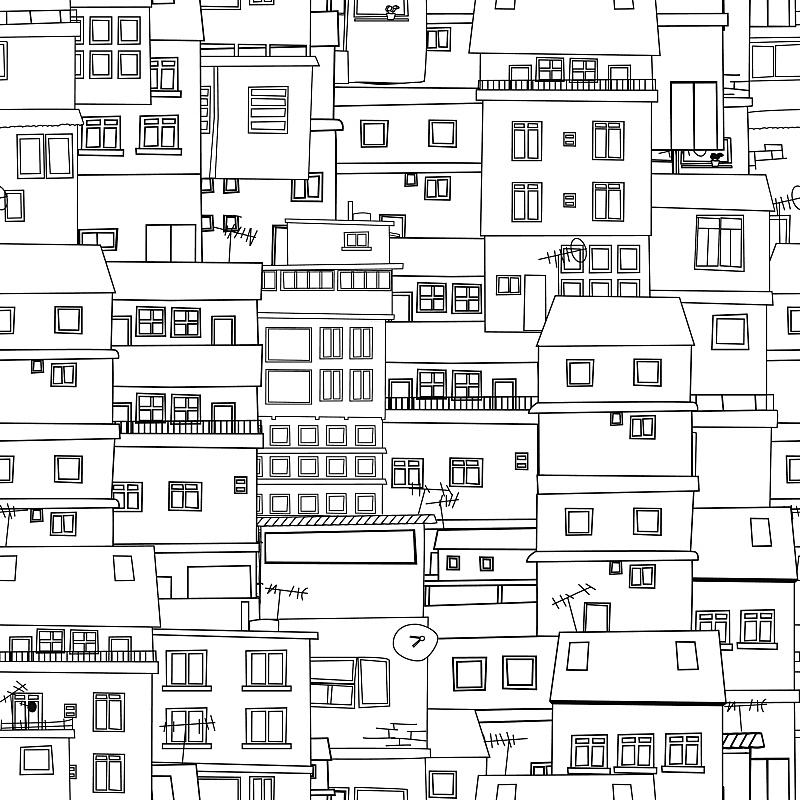 城市,草图,贫民窟,绘画插图,纹理效果,墙,无人,符号,四方连续纹样,计算机制图