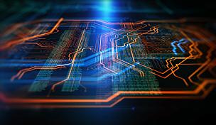 技术,橙色,蓝色,背景聚焦,超文本链接标示语言,电路板,母板,电脑芯片,计算机语言,网络服务器